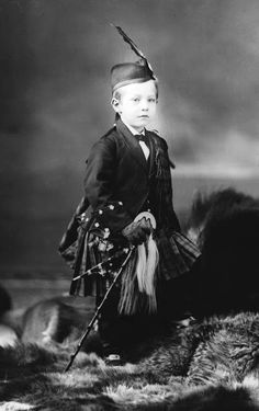 +~+~ Antique Photograph ~+~+   One of the last portraits to share from the McCord Museum in Quebec.  Wonderful young boy dressed in full Highlander gear.
