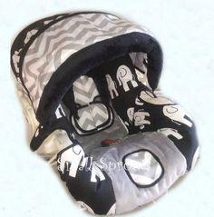 Black & White Elephant/Grey Chevron/Grey Minky by smallsproutsbaby, $139.00