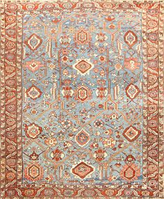 View this beautiful Antique Persian Bakshaish rug 48634 from Nazmiyal fine antique rugs and decorative carpet collection in New York.