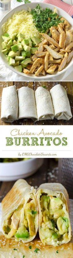 Healthy Recipe Chicken Avocado Burritos