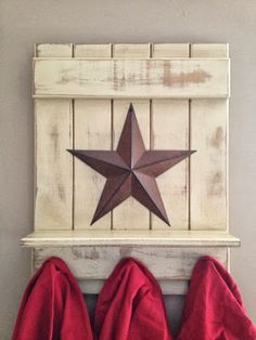 "Love to do this with an ""H"" instead of the star - maybe from an old tin roof tile?"