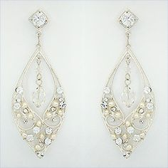 Christina Garcia delicate bridal earrings. Filigree design with crystal and pearls. Wedding earrings reminiscent of Italian Royalty with contemporary flair at Perfect Details.