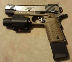 ReCover Tactical CC3 1911 Grip on a KimberLoading that magazine is a pain! Get your Magazine speedloader today! http://www.amazon.com/shops/raeind
