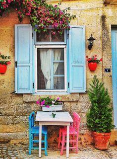 simple colorful Alaçatı .. Izmir .. Turkey