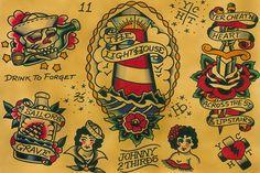 Flash by Johnny 2 Thirds Rockabilly Old School Tattoo Fine Art Print