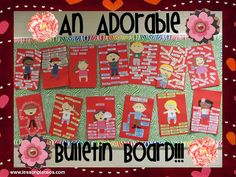 I love me - adjective; all about me; bulletin board