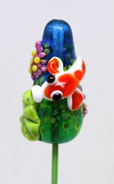 Items similar to Made to order Margo lampwork beads Koi on Etsy Polymer Beads, Lampwork Beads, Glass Jewelry, Glass Beads, Jewlery, Glass Animals, Handmade Beads, How To Make Beads, Bead Art