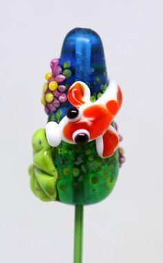 Margo lampwork beads Koi