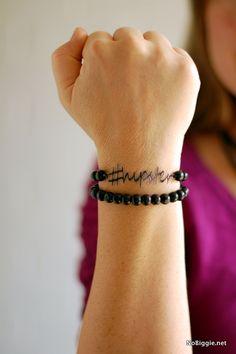 Hipster bracelet made with the Cricut Explore -- NoBiggie.net. #DesignSpaceStar Round 2