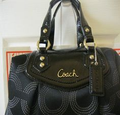 'BNWT, F20027 Coach Ashley Op Art Satchel/Shoulder Bag' is going up for auction at  5pm Sat, Aug 31 with a starting bid of $1.