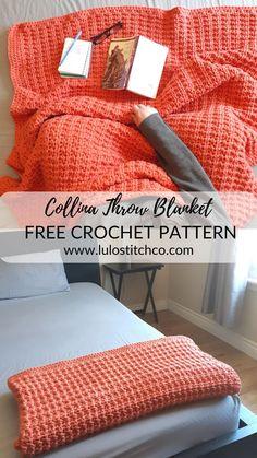 Crochet Afghans, Afghan Crochet Patterns, Crochet Stitches, Blanket Crochet, Diy Crochet Blankets, Diy Throw Blankets, Crochet Throw Pattern, Dishcloth Crochet, Crochet Throws