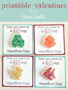 Cutesy Crafts: Maze Valentine Printables