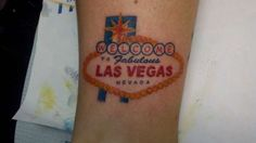 Las Vegas Sign tattoo