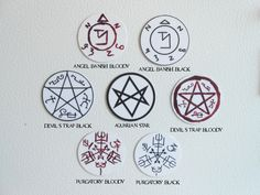 A personal favorite from my Etsy shop https://www.etsy.com/listing/248693521/supernatural-sigils-magnet-set