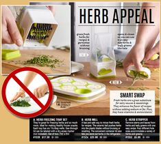 Pampered Chef new Spring Products, Herb Stripper, Herb Mill, Herb Freezing Tray. Use fresh herbs in your everyday cooking, great for kids to help in the kitchen too