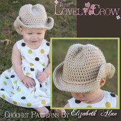 Sombrero de vaquero del ganchillo patrón bebé por TheLovelyCrow