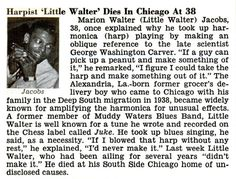 Little Walter Obituary from Jet Magazine – March 1968 (Courtesy of Scott Dirks)