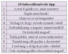 10 önbecsülést növelő tipp