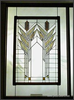 Frank Lloyd Wright Leaded Glass Window