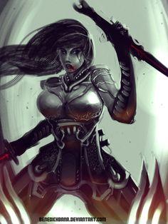 Female Vampire Assassin by benedickbana