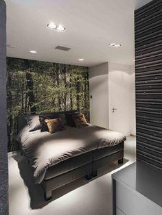 schlafzimmer modern gestalten graue decke wei verputzte. Black Bedroom Furniture Sets. Home Design Ideas