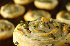 A Move Begins: Spinach, Gouda, & Mushroom Pinwheels