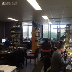 A view from the #workshop with all the team working on amazing creations! --- #Jewellers #sydney #jeweller #designer #masterjeweller #castletowers #jewellerydesigner #jewellerydesign #design #igersaustralia #igerssydney #KingsOfBling #sydney #australia #diamonds #diamondlife #bling #behindthescene #bts #jewellery #jewelry #blingbling #SydneyJewellers #MasterJewellers #style #gems #jewels