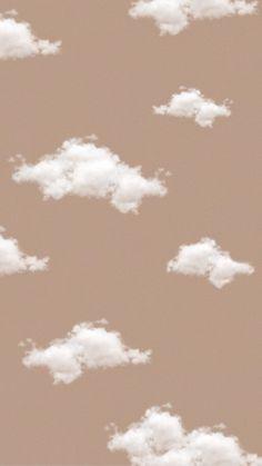 Aesthetic beige cloud wallpaper ~ Credits to Original Owner ♡~ Cloud Wallpaper, Brown Wallpaper, Iphone Background Wallpaper, Disney Wallpaper, Wallpaper Quotes, Iphone Backgrounds, Hipster Wallpaper, Pastel Wallpaper Backgrounds, Pastel Lockscreen