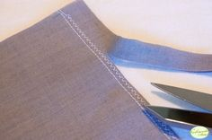 Double stitch seam: good for knits that have a tendency to curl at the edges – though it works great for wovens too.
