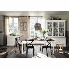 Mesa de comedor de fresno y madera de paulonia An. 180 cm | Maisons du Monde
