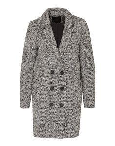 Der klassische Mantel von Y.A.S. @aboutyoude eignet sich ideal für die kalte Winterzeit. Die leichte Egg Shape wird geprägt durch eine melierte Optik, einem Reverskragen und einer Doppel-Knopfleiste.