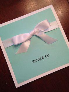 Breakfast at Tiffany's Invitations | Breakfast at Tiffany's Bridal Shower Invitations by HillmanHandmade on Etsy https://www.etsy.com/listing/246535980/breakfast-at-tiffanys-invitations