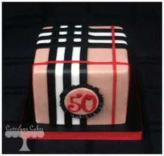 Burberry Cake www.facebook.com/i.love.cuteology.cakes