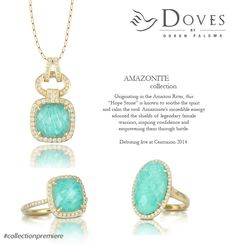 """COLLECTION PREMIERE: introducing Amazonite by Doves. This """"Hope Stone"""" soothes the spirit and calms the soul."""