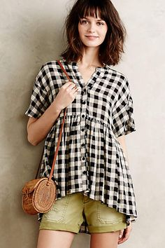 Checked Swing Top - anthropologie.com Checked Swing Top by Tylho $59.95 ($98.00)