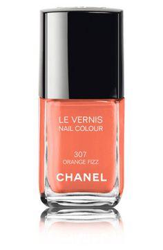 CHANEL LE VERNIS NAIL COLOUR  - orange fizz #LuckyMagazine