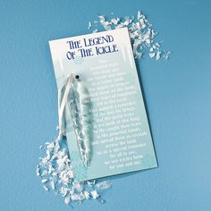 """The Legend of the Icicle"" Christmas Ornaments on Cards - OrientalTrading.com"