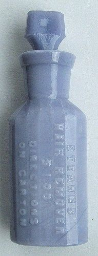 Beautiful Antique opaque PURPLE MILK GLASS Stearn's by plowgirl