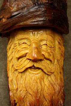 A Wood Spirit Wood Carving of an Elf Wizard by TreeWizWoodCarvings, $200.00