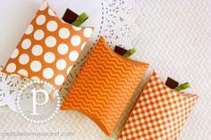 Pebbles In My Pocket Blog - Pumpkin Pillow Boxes