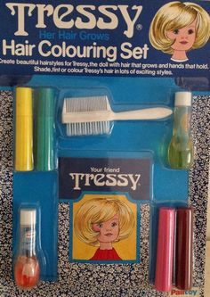 Vintage Palitoy Tressy doll NRFP hair set old shop stock | 8.09+3.9