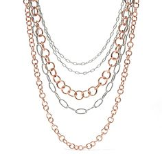 Fossil Ring Chain Necklace