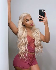 Find Cheap Blonde Women's Human Hair Body Wave Lace Front Wigs 22 Inch with Baby Hairline from Natural Human Hair Company,Pre Plucked Glueless Frontal Wigs. Blonde Hair Black Girls, Brown Blonde Hair, Platinum Blonde Hair, Blonde Bobs, Super Blonde Hair, Blonde Honey, Icy Blonde, White Blonde, Light Blonde