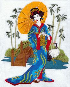 Machine Embroidery Designs at Embroidery Library! - Geisha in ...