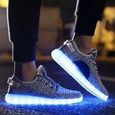 29f8bd702a6c These unbelievably cool light up sneakers that you charge by USB.