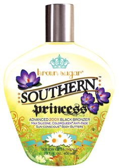 Brown Sugar Southern Princess Advanced Black Bronzer with Max Silicone, Color Queen Anti-Fade Sun-Concious Butter Blend Tanning Lotion Sunbed Tanning Lotion, Indoor Tanning Lotion, Tanning Cream, Tanning Bed, How To Tan Faster, 400 M, Tanning Tips, Tanning Salons, Suntan Lotion