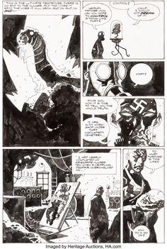 Comic Book Artists, Comic Books, Mike Mignola, Jack Kirby, Comic Page, Panel Art, Black And White, Robots, Artwork