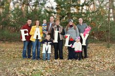 FAMILY - May be a neat idea for a big family picture! @Marla Spohr