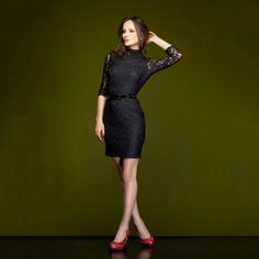 Long Sleeve Knit Dress Black now featured on Fab.