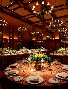 VENETIAN ROOM, PARK HYATT TOKYO, Wedding Table Setting